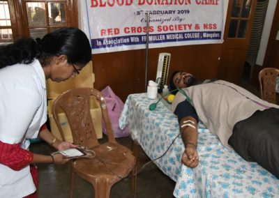 Blood Donation Camp at St Agnes College
