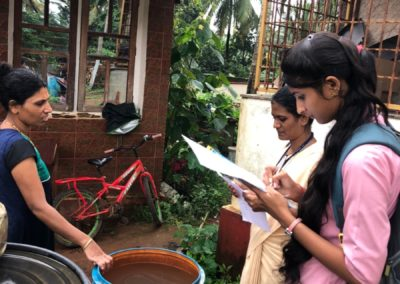 Agnes towards Community of St Agnes College (Autonomous) reaches out to Kuthar, Munnur Village to Conduct a Survey and to create awareness about Solid Waste Management
