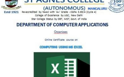 Online Course on using MS Excel