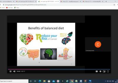 Webinar on Healthy Meal, Healthy Mile