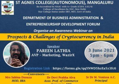 Webinar on - Cryptocurrency