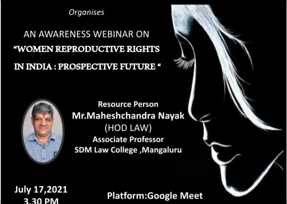 Webinar on Awareness on Women Reproductive Rights in India