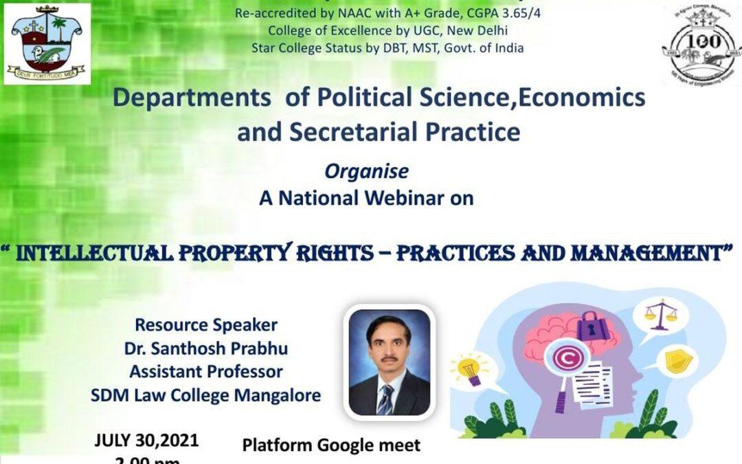 Webinar-Intellectual Property Rights