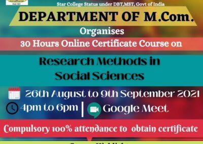 Research Methods in Social Sciences